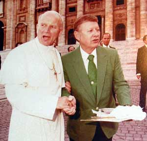 Pope John Paul II with Bill Boehm