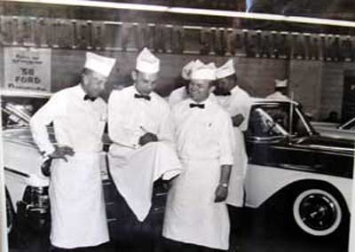 Del Spitzer in the Spitzer Supermarket with the 1958 Fords