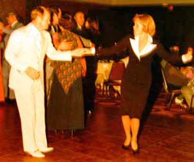 Del and Annie Spitzer dancing