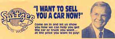 I want to sell you a car now ad - Del Spitzer