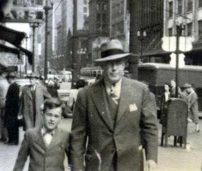 John Feighan and his father on Euclid Avenue