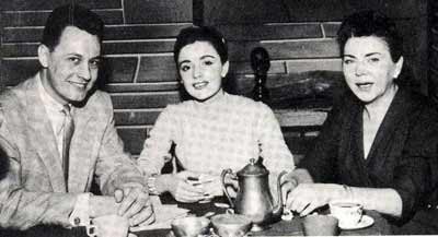 Howard Hoffmann with Anna Marie Alberghetti and Maggie Wulff on May 4, 1957 for WJW's