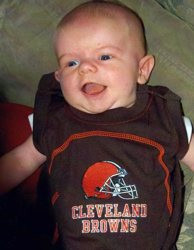 Les Roberts grandson and Browns fan Parker Roberts
