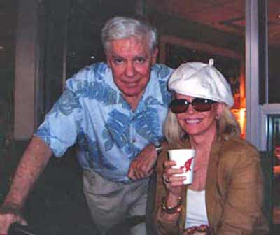 Les Roberts with radio partner Ann Elder
